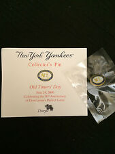 NY Yankees 2006 Old Timer's Day Collector's Pin - NEW!