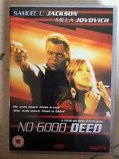 Samuel L. Jackson, Milla Jovovich NO GOOD DEED ~ 2002 Bob Rafelson Thriller DVD