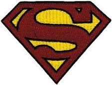 39143 Glittery Superman S Shield Superhero Man Of Steel DC Comics Iron On Patch