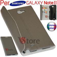 Cover Custodia Flip Per Samsung Galaxy Note 2 N7100 Porta Tessere + Pellicola G