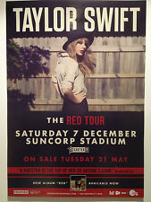 TAYLOR SWIFT 2013 Australian Tour Poster **BRISBANE SUNCORP STADIUM** Red ***NEW