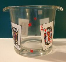 """NEW Luminarc Glass """"Card Party"""" Ice Bucket. NEW IN BOX"""