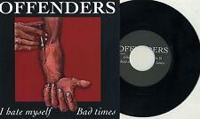 "Offenders - I Hate Myself 7"" DRI MDC Dicks Big Boys Really Red Austin Texas Punk"