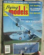 Flying Models Magazine April 1991 R/C Planes Boats Cars Micropro 800 Transmitter