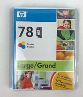 New Genuine - HP 78 Tri-Color Ink Cartridge - C6578DN - Sealed Box Exp. 2008