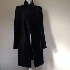 Ann DEMEULEMEESTER Gorgeous VINTAGE   Long Black Coat size 40 / S-M