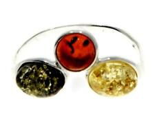 Modern Design Ring Jewellery 7501 Multicoloured Baltic Amber 925 Sterling Silver