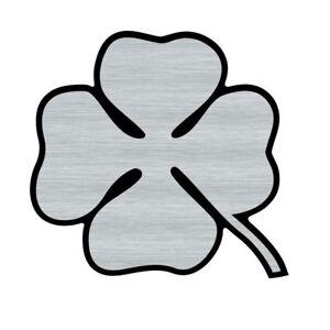 Logo adhésif gravé ALFA ROMEO Trèfle - 5,5cm x 5cm - épaisseur 1mm