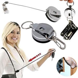 Badge Card Holder Clip& Belt Retracting Reel Ring Key Lot Wholesale Carabiner ID