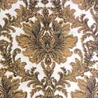 Versace 1969 ITALIA 4PC QUEEN SHEET SET Damask Medallion Black Tan Cotton 300TC