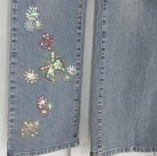 DANIEL Brand  JEANS  SIZE 6 Embroidery Beads  Sequins  BLING!  $69  NEW NWT