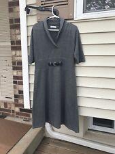Calvin Klein Womens Sweater Dress Gray Short Sleeve Career Casual SIZE XL