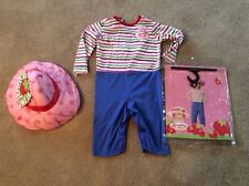Strawberry Shortcake Dress Halloween Costume Girls M Medium