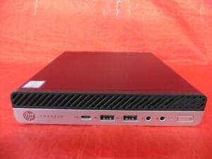 HP 7XK58AW#ABA Mini Pro Desk 600 G5 500GB HDD Win 10 Pro Keyboard Mouse Bundle