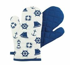 New listing Oven Mit, Barbecue Glove,Pot Cloth, Potholder With Maritime Motif