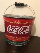 Coca Cola Vintage  Tin Bucket 80/90s