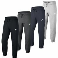 NIKE Mens New Fleece Cuffed Jogging Bottoms Sports Gym Tracksuit Joggers