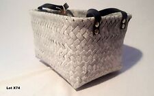 New Hand Made Free Standing Large Plastic Caddy Storage Toy Basket Washed Grey