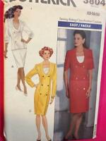 Butterick Sewing Pattern 3804 Ladies / Misses Dress Top Skirt Size 12-16 Uncut