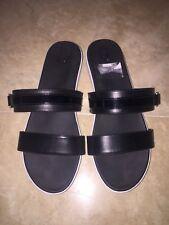 Women's DR SCHOLL'S Black/White Slip On Sandals SZ 8.5