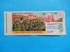 BILLET de LOTERIE LES VENDANGES Harvest tRAUBENLESE VENDIMIA Vendemmia 1979