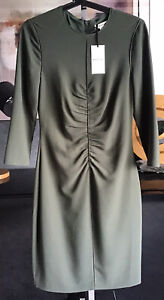 Whistles Ladies Gorgeous Green Dress With Full Zip Fastening To Rear BNWT UK 10