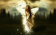 Framed Print - Gothic Angel Walking out of the Woods (Picture Poster Bible Art)
