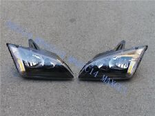 Pair FRONT BLACK COLOR HEAD LAMP HEAD LIGHT FOR FORD FOCUS 2005