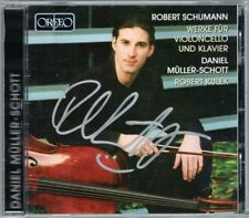 Daniel MÜLLER-SCHOTT Signiert SCHUMANN Cello Sonata Romanzen Fantasiestücke CD