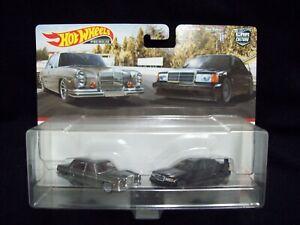 Hot Wheels Car Culture Team Transport 1972 Mercedes Benz 280 4.5 & 190 E 2.5-16.