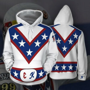 Unisex Evel Knievel Collectible Hoodie Casual Long Sleeve Pullover Sweatshirt