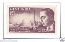 PHILA433 INDIA 1966 SINGLE MINT STAMP OF HOMI JEHANGIR BHABHA MNH # SCIENTIST