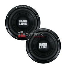 "(2) ALPINE SWA-10S4 Car Audio 10"" BASSLINE Single 4 Ohm Subwoofers 750 Watts"