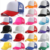 Kids Boys Girls Baseball Cap Mesh Snapback Trucker Sports Summer Outdoor Sun Hat