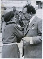 Edward G. Robinson & vermeintliche russ. Prinzessin, Orig. Presse-Photo von 1953