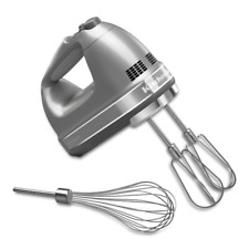 KitchenAid Hand Blender W/ Beater Whisk 7 Speed Silver Electric Handheld Mixer
