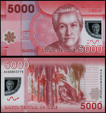 CHILE 5000 PESOS (P163a) 2009 POLYMER UNC