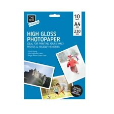 A4 HIGH GLOSS 230gsm QUICK DRYING INJEKT PRINTERS BRIGHT GLOSSY PHOTO PAPER
