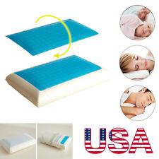 Memory Foam Cooling Gel Pillow Orthopedic Bed Pillow W/ Case Reversible
