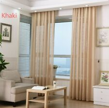 Plain Solid Linen Lace Sheer Curtain Valance 9 Colors Wedding Curtains Thick