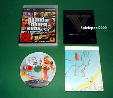 GTA 5 Grand Theft Auto Five GTA V  USK 18 fuer PS3 mit OVP und MAP