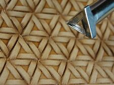 Stainless Steel Barry King - #2 Tri Braid Geometric Stamp (Leather Tool)