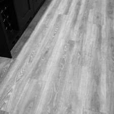Water Resistant Grey Oak Click Vinyl Flooring Wood Textured Planks SAMPLE 99p