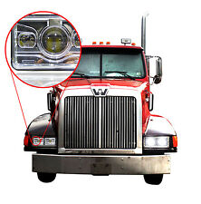 LED Projector Headlamps (Pack of 1) For Western Star 4900 Semi-Truck HID/Xenon