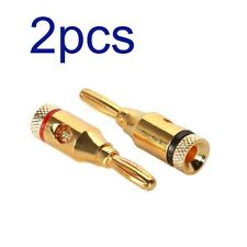 4mm Musical Audio Speaker Cable Wire Banana Plug Connector G8 DJ Studio