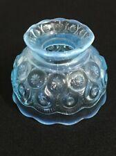 "L E SMITH BLUE LAMP CANDLE SHADE 4-3/4"" Diameter 3-1/2"" Tall 1-1/2"" Hole"