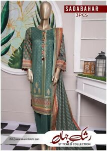 Pakistani Eid Designer Shalwar Kameez Ready to Wear Sadabahar Lawn Summer Sale