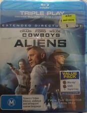 *NEW & SEALED* Cowboys & Aliens - Extended Cut (Blu-ray + DVD Triple Play) Reg B