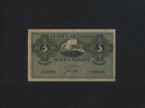 Estonia 5 Maarka 1919 P-45 VF