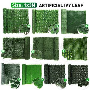 """39""""x118"""" / 39""""x39"""" Artificial Faux Ivy Leaf Privacy Fence Screen Decor Hedge US"""
